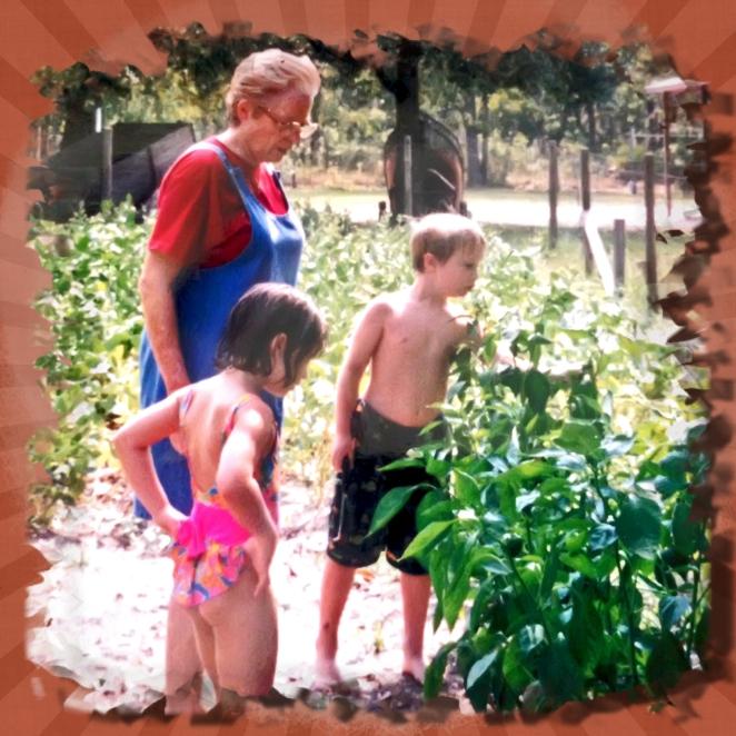 1990 nanny adam anna vegetable garden lake asbury.jpg